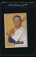 Load image into Gallery viewer, Scan of 1951 Bowman 124 Gus Niarhos G