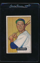 Load image into Gallery viewer, Scan of 1951 Bowman 124 Gus Niarhos EX