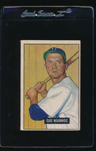 Load image into Gallery viewer, Scan of 1951 Bowman 124 Gus Niarhos VG