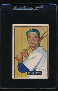 Scan of 1951 Bowman 124 Gus Niarhos VG