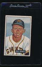 Load image into Gallery viewer, Scan of 1951 Bowman 125 Bill Rigney EX