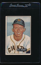 Load image into Gallery viewer, Scan of 1951 Bowman 125 Bill Rigney VG+
