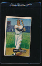 Load image into Gallery viewer, Scan of 1951 Bowman 126 Bobby Thomson VG
