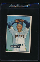 Load image into Gallery viewer, Scan of 1951 Bowman 127 Sal Maglie EX