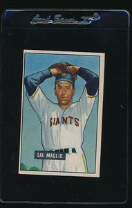 Scan of 1951 Bowman 127 Sal Maglie EX