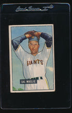 Load image into Gallery viewer, Scan of 1951 Bowman 127 Sal Maglie G