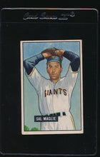 Load image into Gallery viewer, Scan of 1951 Bowman 127 Sal Maglie VG-EX