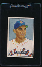 Load image into Gallery viewer, Scan of 1951 Bowman 129 Matt Batts VG-EX