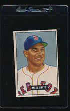Load image into Gallery viewer, Scan of 1951 Bowman 129 Matt Batts G