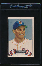 Load image into Gallery viewer, Scan of 1951 Bowman 129 Matt Batts VG