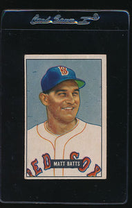 Scan of 1951 Bowman 129 Matt Batts VG