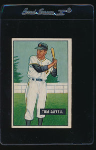 Scan of 1951 Bowman 130 Tom Saffell EX