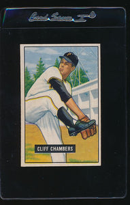 Scan of 1951 Bowman 131 Cliff Chambers VG-EX