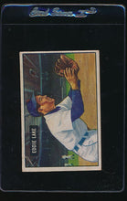 Load image into Gallery viewer, Scan of 1951 Bowman 140 Eddie Lake G