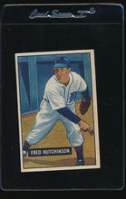 Load image into Gallery viewer, Scan of 1951 Bowman 141 Fred Hutchinson G
