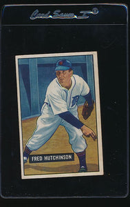 Scan of 1951 Bowman 141 Fred Hutchinson G