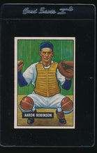 Load image into Gallery viewer, Scan of 1951 Bowman 142 Aaron Robinson EX