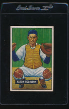 Load image into Gallery viewer, Scan of 1951 Bowman 142 Aaron Robinson VG-EX