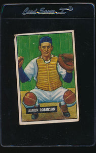 Scan of 1951 Bowman 142 Aaron Robinson F