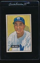 Load image into Gallery viewer, Scan of 1951 Bowman 168 Sam Mele VG-EX