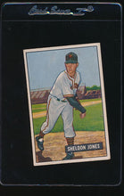 Load image into Gallery viewer, Scan of 1951 Bowman 199 Sheldon Jones VG-EX