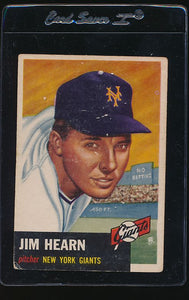 Scan of 1953 Topps 38 Jim Hearn G