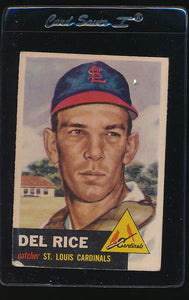 Scan of 1953 Topps 68 Del Rice G