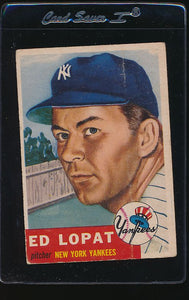 Scan of 1953 Topps 87 Ed Lopat G