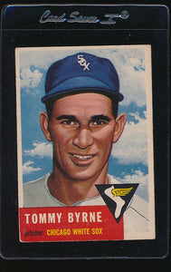 Scan of 1953 Topps 123 Tommy Byrne VG