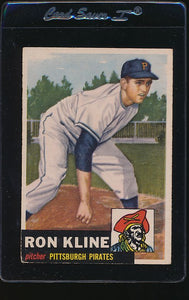 Scan of 1953 Topps 175 Ron Kline VG-EX