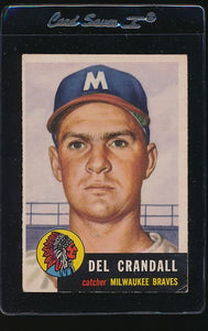 Scan of 1953 Topps 197 Del Crandall VG