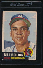 Load image into Gallery viewer, Scan of 1953 Topps 214 Bill Bruton VG