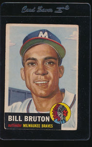 Scan of 1953 Topps 214 Bill Bruton VG