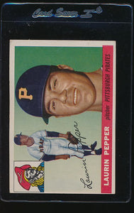 Scan of 1955 Topps 147 Hugh Pepper VG-EX