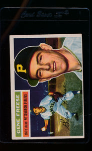 Scan of 1956 Topps 46 Gene Freese VG-EX