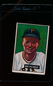 Scan of 1951 Bowman 63 Bob Dillinger  VG