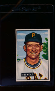 Scan of 1951 Bowman 64 Bill Werle  G/VG