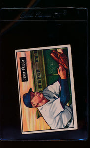 Scan of 1951 Bowman 71 Jerry Priddy  VG