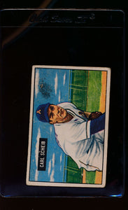 Scan of 1951 Bowman 83 Carl Scheib  P
