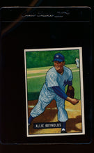 Load image into Gallery viewer, Scan of 1951 Bowman 109 Allie Reynolds  EX