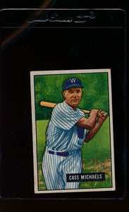 Scan of 1951 Bowman 132 Cass Michaels  EX