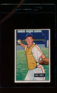 Scan of 1951 Bowman 156 Del Rice  VG