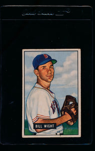 Scan of 1951 Bowman 164 Bill Wight  VG