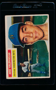 Scan of 1956 Topps 237 Jose Valdivielso VG