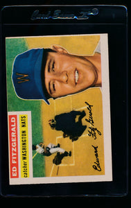 Scan of 1956 Topps 198 Ed Fitzgerald EX-MT (MC)