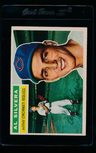 Scan of 1956 Topps 137 Al Silvera VG-EX