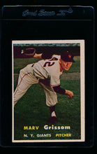 Load image into Gallery viewer, Scan of 1957 Topps 216 Marv Grissom EX