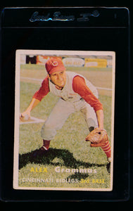 Scan of 1957 Topps 222 Alex Grammas VG