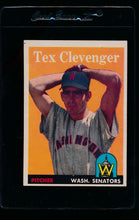 Load image into Gallery viewer, Scan of 1958 Topps 31 Tex Clevenger EX