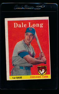 Scan of 1958 Topps 7 Dale Long VG-EX